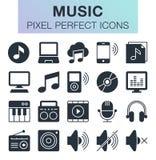Conjunto de iconos de la música Imagen de archivo