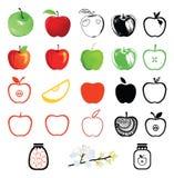 Conjunto de iconos de la manzana Libre Illustration