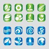 Sistema de iconos de la naturaleza foto de archivo