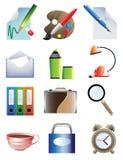 Conjunto de iconos de la oficina Fotografía de archivo libre de regalías