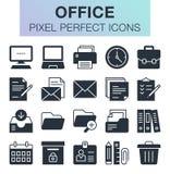 Conjunto de iconos de la oficina Foto de archivo