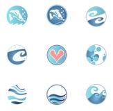 Conjunto de iconos de la pesca Imagen de archivo