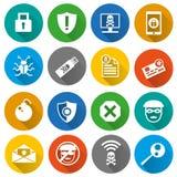 Conjunto de iconos de la seguridad Foto de archivo