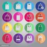 Conjunto de iconos de las compras Fotografía de archivo