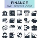 Conjunto de iconos de las finanzas Imagen de archivo