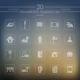 Conjunto de iconos de los aparatos electrodomésticos Foto de archivo libre de regalías