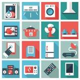 Conjunto de iconos de los aparatos electrodomésticos Fotografía de archivo