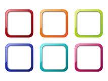 Conjunto de iconos de los apps Imagen de archivo libre de regalías