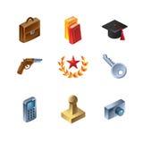 Conjunto de iconos del asunto Imagenes de archivo