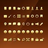 Conjunto de iconos del asunto Fotos de archivo libres de regalías