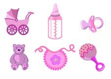 Conjunto de iconos del bebé Imágenes de archivo libres de regalías