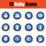 Conjunto de iconos del bebé Fotos de archivo libres de regalías