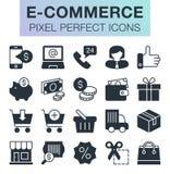 Conjunto de iconos del comercio electrónico Fotos de archivo