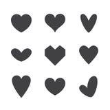 Conjunto de iconos del corazón Foto de archivo libre de regalías