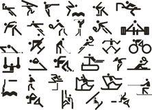 Conjunto de iconos del deporte Ilustración del vector Imagen de archivo