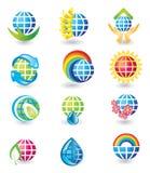 Conjunto de iconos del diseño del globo
