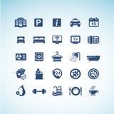 Conjunto de iconos del hotel stock de ilustración