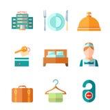 Conjunto de iconos del hotel Foto de archivo libre de regalías
