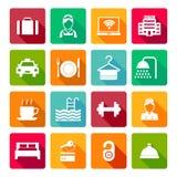 Conjunto de iconos del hotel Fotografía de archivo libre de regalías