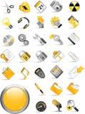 Conjunto de iconos del Internet. Fotografía de archivo