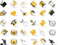 Conjunto de iconos del Internet. Foto de archivo