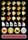 Conjunto de iconos del Internet. Imagen de archivo libre de regalías