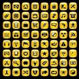 Conjunto de iconos del Internet. Foto de archivo libre de regalías
