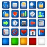 Conjunto de iconos del ordenador Fotografía de archivo libre de regalías