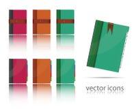 Conjunto de iconos del organizador ilustración del vector