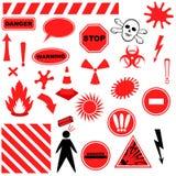 Conjunto de iconos del peligro libre illustration
