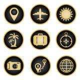 Conjunto de iconos del recorrido Ilustración del Vector
