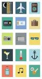 Conjunto de iconos del recorrido Ilustración del vector Foto de archivo