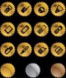 Conjunto de iconos del teléfono - sello Foto de archivo