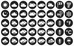 Conjunto de iconos del tiempo Imagen de archivo libre de regalías