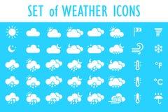 Conjunto de iconos del tiempo Foto de archivo