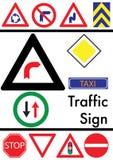 Conjunto de iconos del tráfico Fotografía de archivo libre de regalías