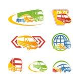 Conjunto de iconos del transporte Imagenes de archivo