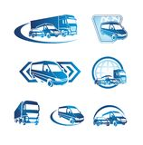 Conjunto de iconos del transporte Foto de archivo libre de regalías