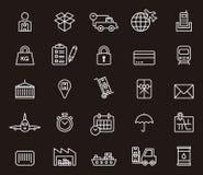 Conjunto de iconos del transporte ilustración del vector