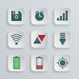 Conjunto de iconos del vector Imagenes de archivo