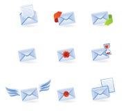 Conjunto de iconos del vector del correo Fotografía de archivo
