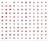 Conjunto de iconos del Web Fotos de archivo
