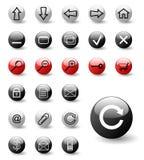 Conjunto de iconos del Web ilustración del vector