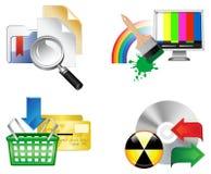 Conjunto de iconos del Web Imagen de archivo