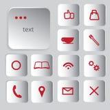 Conjunto de iconos del Web Fotos de archivo libres de regalías