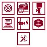 Conjunto de iconos Gas y industria energética Foto de archivo