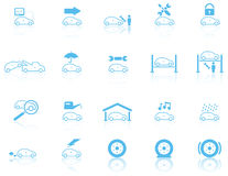 Conjunto de iconos generales del mantenimiento del motor Fotografía de archivo