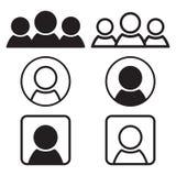 Conjunto de iconos de la gente Diseño del plano y del esquema Ilustración del vector ilustración del vector