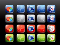 Conjunto de iconos móviles de la aplicación Imagen de archivo