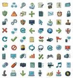 Conjunto de iconos a mano Ilustración del Vector